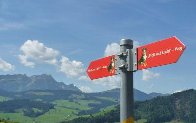Familienwanderung in Appenzell - Pfeff ond Lischt Weg