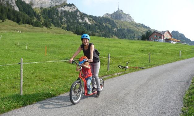 Hoher Kasten: Trottinett fahren und wandern im Appenzellerland