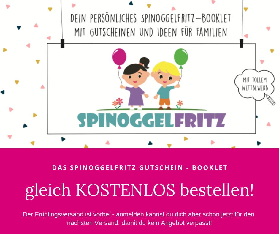 Das kostenlose Gutschein-Booklet vom Spinoggelfritz bestellen.