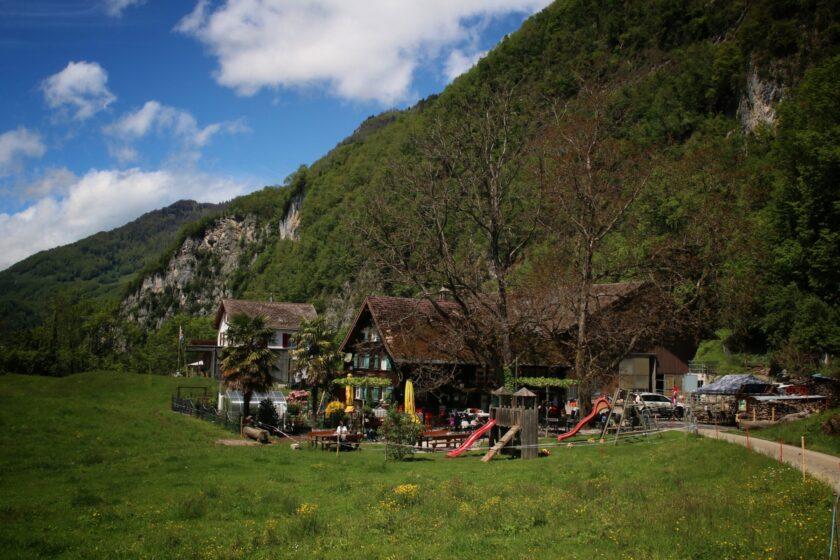 Das Restaurant Burg Strahlegg ist der Ausgangspunkt für die Schatzsuche.