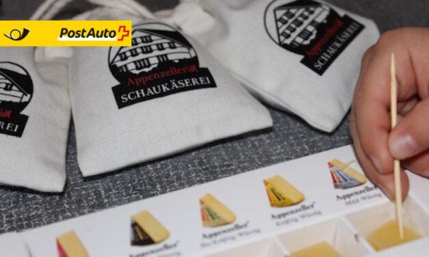 In der Schaukäserei Appenzell gibt es leckeren Käse zum probieren und auf dem Rundgang erfährt man alles über die Käseherstellung.